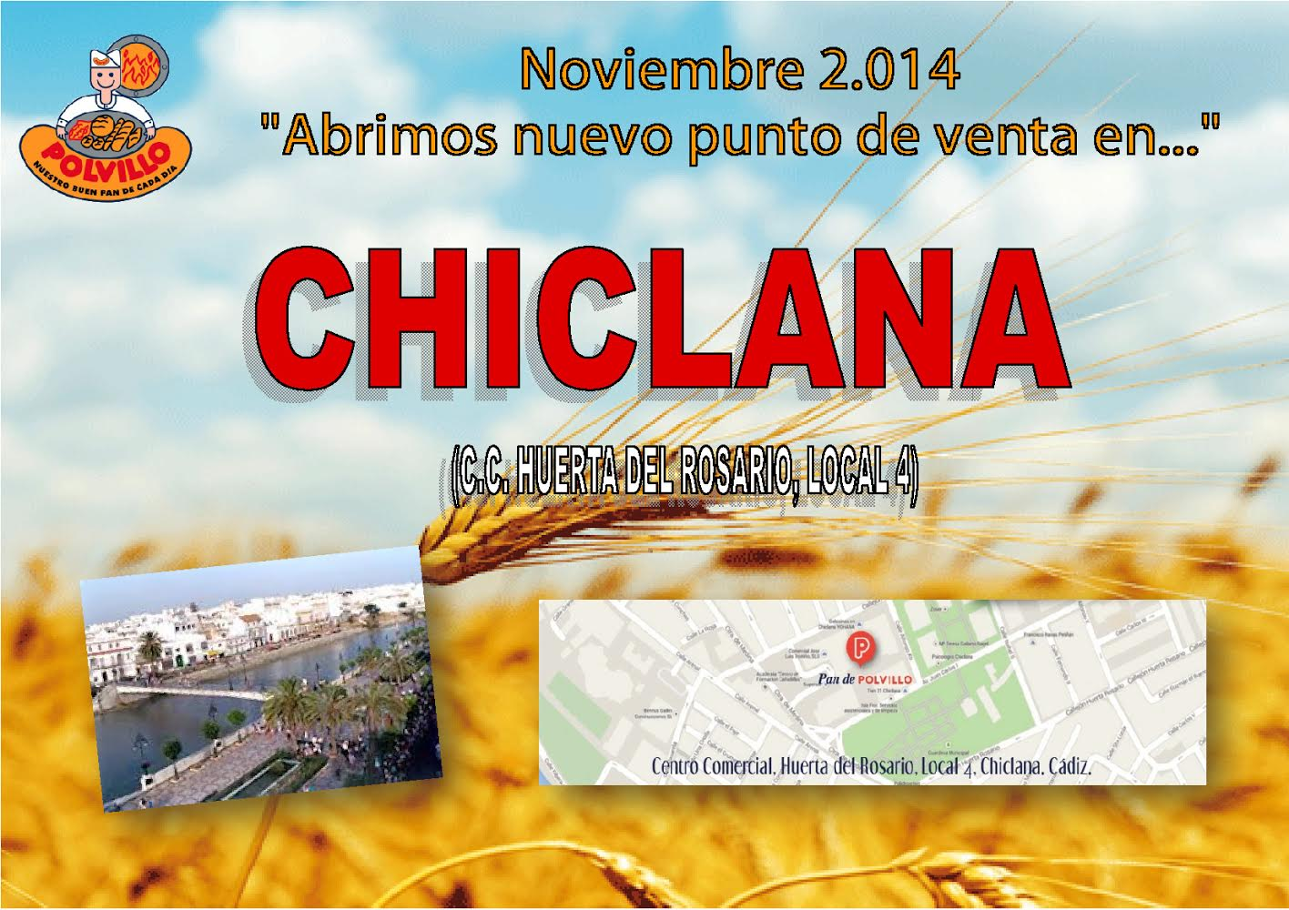 Apertura Chiclana, CC Huerta del Rosario, local 4