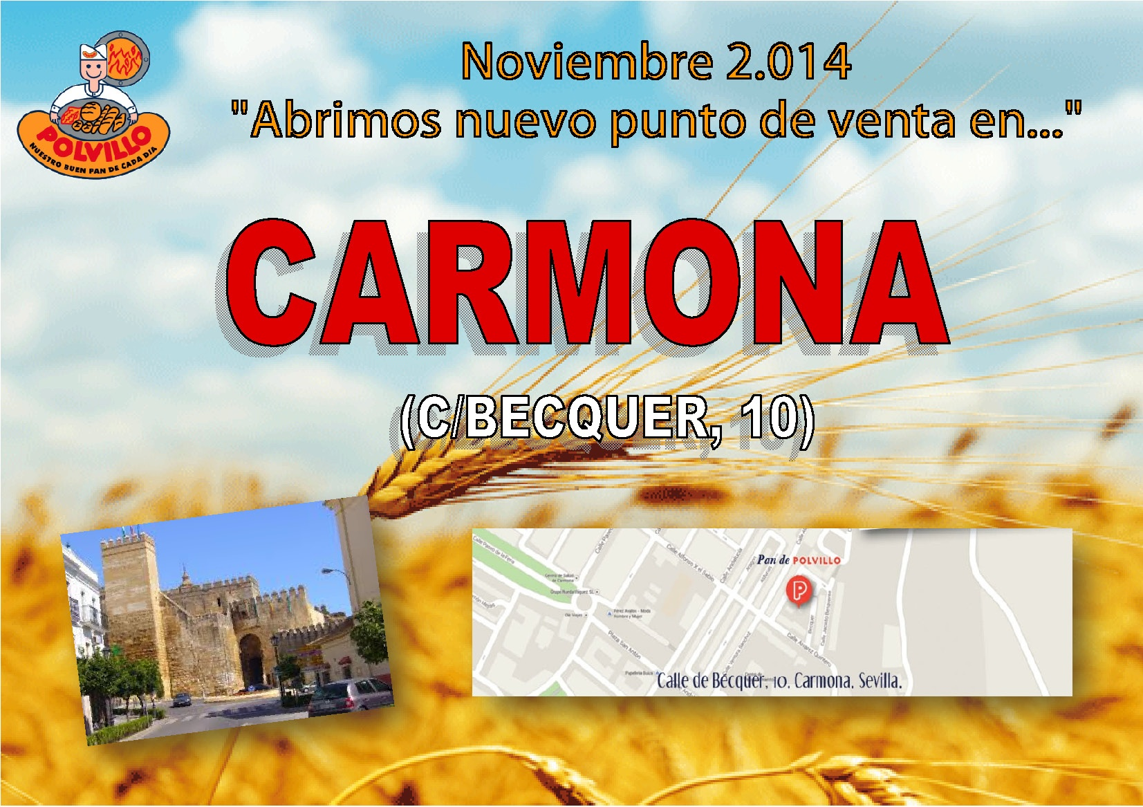 Apertura tienda Polvillo Carmona, calle Becquer