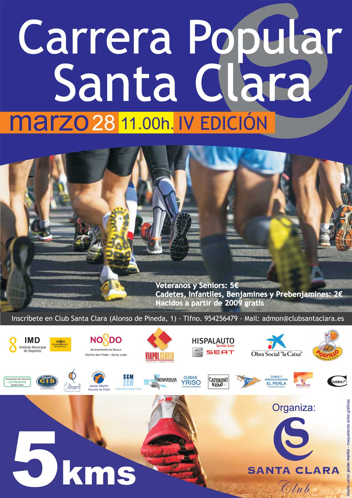 Cartel iv carrera popular santa clara
