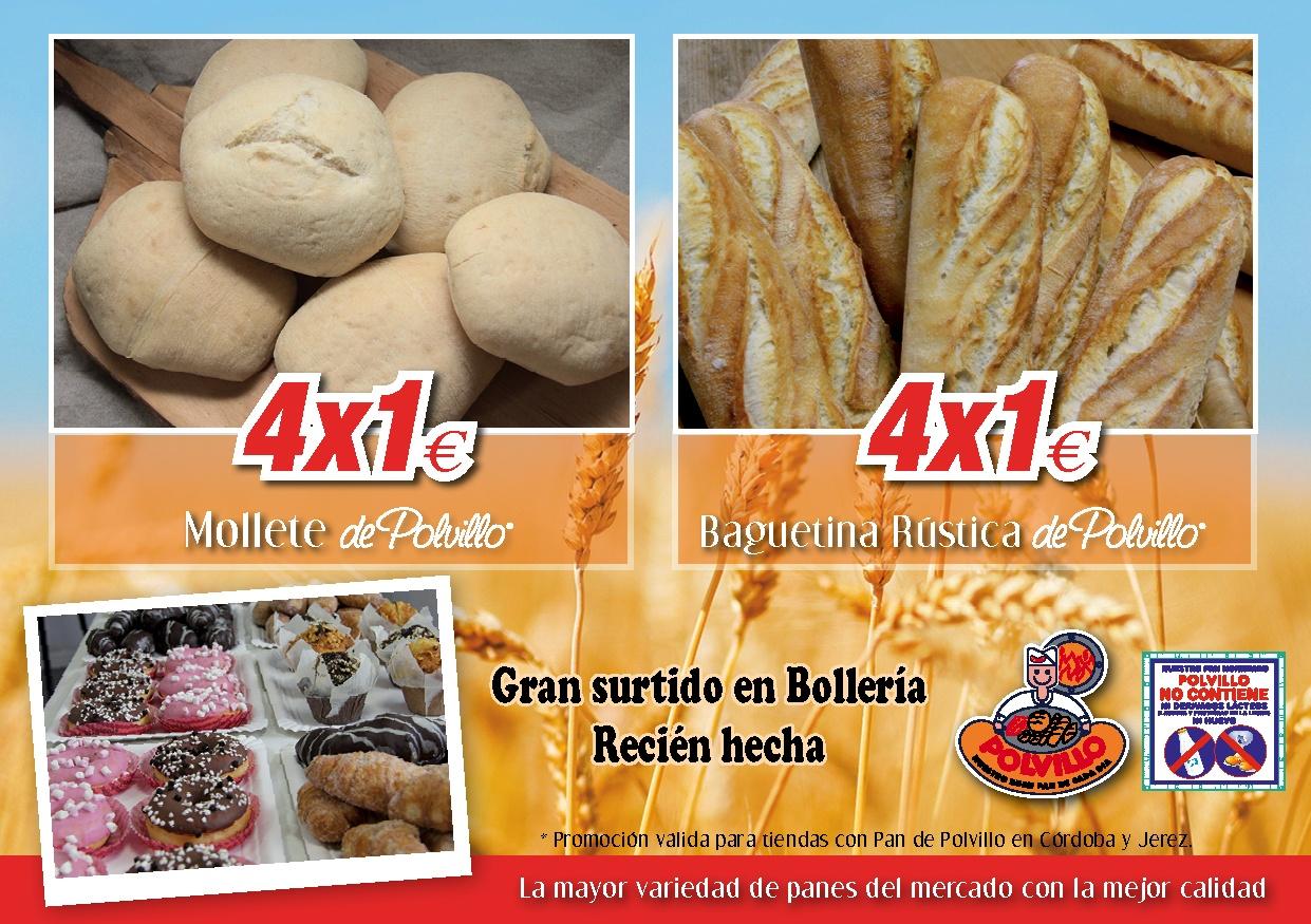 Ofertas molletes y baguetinas polvillo