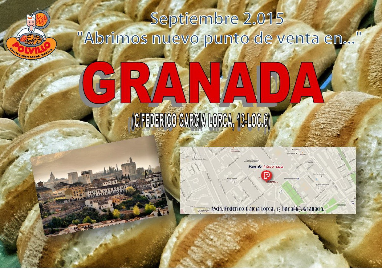 Panaderia Polvillo Granada, calle Federico Garcia Lorca