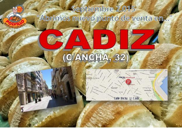 Panadería Polvillo Cadiz, calle ancha
