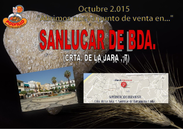 Apertura Panaderia Polvillo Sanlucar, carretera de la jara