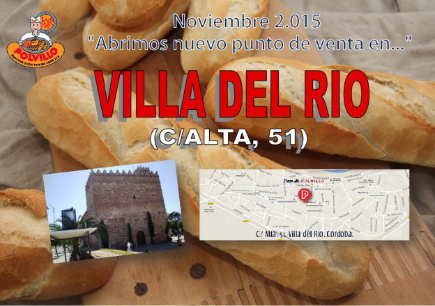 Apertura Panaderia Polvillo Villa del Rio, calle alta