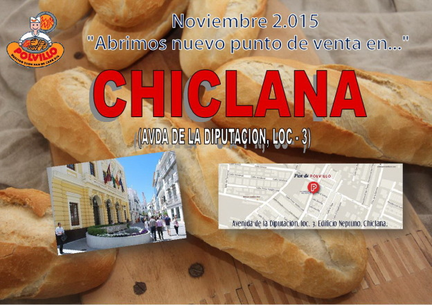 Apertura panaderia polvillo Chiclana, Avda diputacion