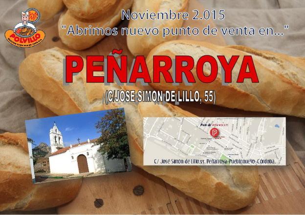 Apertura panaderia polvillo Peñarroya, Calle Jose Limon de Lillo