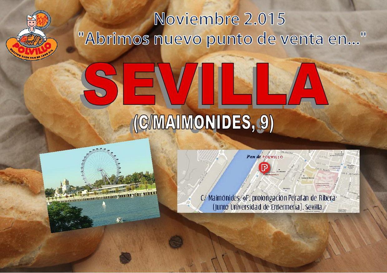 Apertura panaderia polvillo Sevilla, calle maimonides