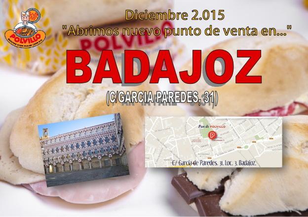 Apertura panaderia polvillo badajoz, calle garcia paredes