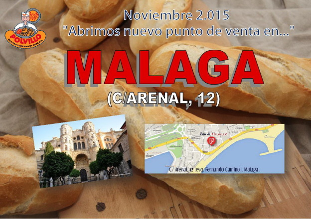 Apertura panaderia polvillo malaga, calle arenal