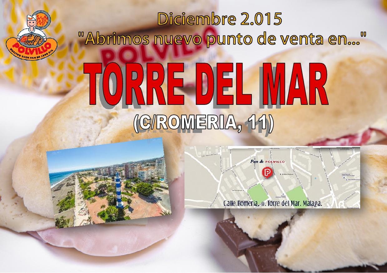 Apertura panaderia polvillo torre del mar, calle romeria