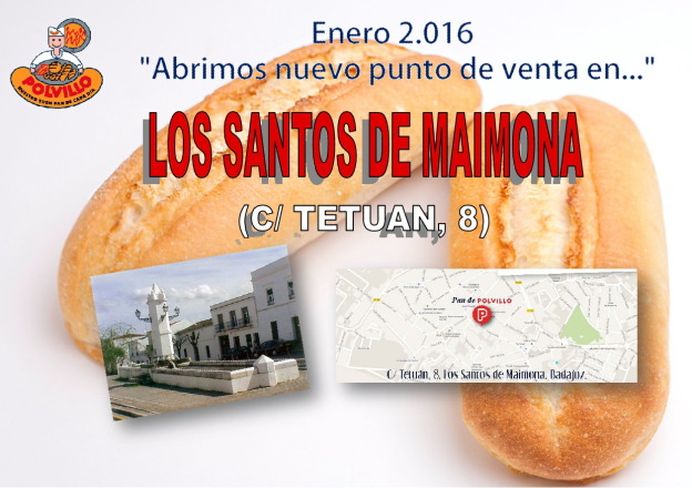 Apertura panadería polvillo Los Santos de Maimona, Calle Tetuan
