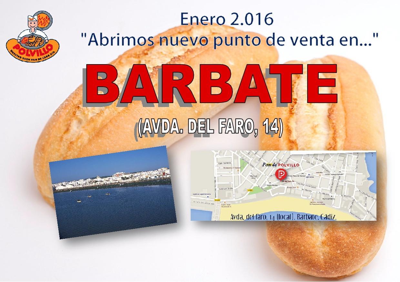 Apertura panaderia Polvillo Barbate, Avda del faro