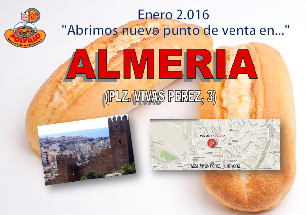 Apertura panaderia polvillo Almeria, plaza vivas perez