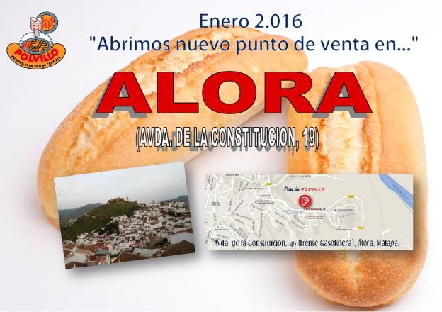Apertura panaderia polvillo Alora, Avda de la constitucion