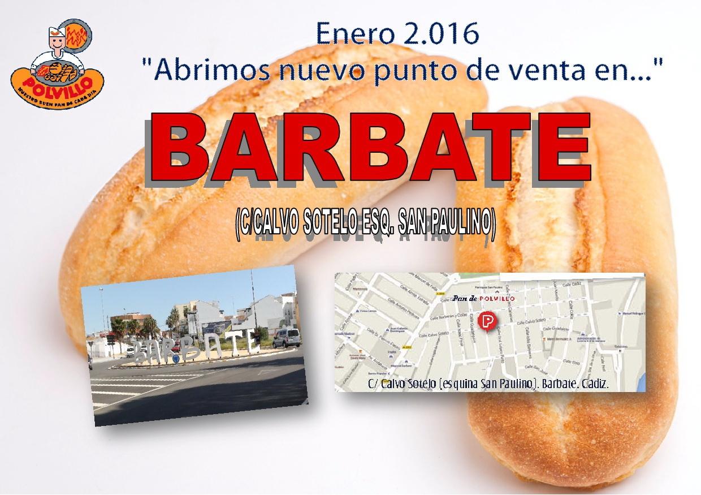 Apertura panaderia polvillo Barbate, Calle Calvo Sotelo