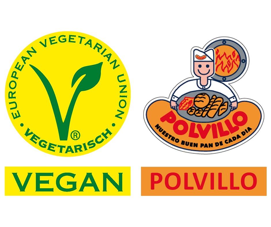 etiqueta vegetariana europea polvillo