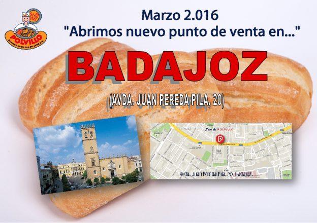 Apertura panaderia Polvillo Badajoz, Avenida Juan Pereda Pila