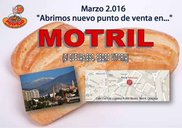 Apertura panaderia polvillo motril, Granada, Calle cuevas