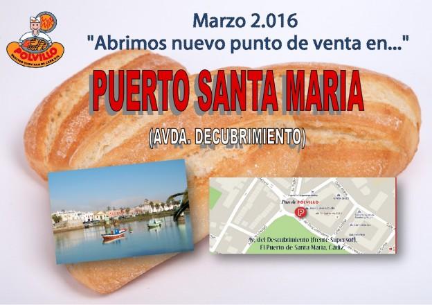 Apertura panaderia polvillo puerto de santa maria, avda descrubrimiento