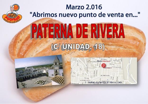 Apertura Panader A Paterna De Rivera Calle Unidad