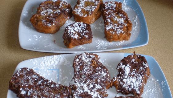 receta torrijas nescafe y chocolate
