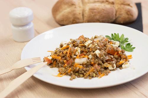 receta de ensalada de lentejas