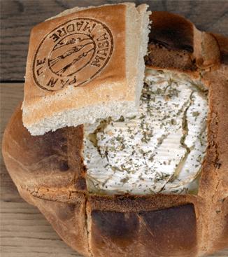 Fondue de queso con pan candeal